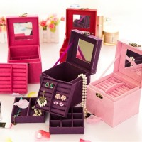 3 Layer Jewelry Box / Kotak Perhiasan / Penyimpanan Aksesoris / Anting