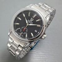 Jam tangan cowok premium rolex oyster chrono rantai matic best quality