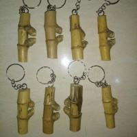 Gantungan Kunci Unik Bambu Pethuk