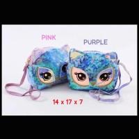 Tas Selempang Sequin Blink Anak Colorful Blink Light Owl (ZH-AC040)
