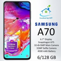 Samsung A70 6/128 GB Garansi Resmi 1 Tahun