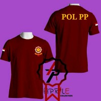 Kaos Baju Pol pp merah maroon - MUTIARA COSTUM