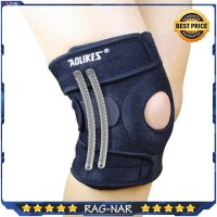 AOLIKES Knee Pad With 4 Spring Knee Patella Brace Support Kaki/Lutut - Hitam