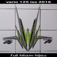 striping motor vario techno 125 iss 2016 Full Hitam-hijau