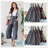 AB50946 Overall Jumpsuit Celana Kulot Baju Kodok Wanita Korea Import