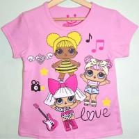 1-6T Baju Kaos anak Karakter perempuan LOL Surprise Pink