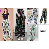 Celana Kulot Wanita -- Celana panjang Kulot motif bunga cantik 6702#