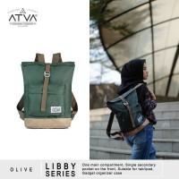 Tas Ransel Mini Backpack Rucksack Wanita Cewek Atva Libby Olive