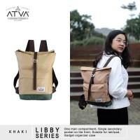 Tas Ransel Mini Backpack Rucksack Wanita Cewek Atva Libby Khaki