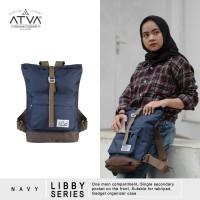 Tas Ransel Mini Backpack Rucksack Wanita Cewek Atva Libby Navy