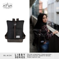 Tas Ransel Mini Backpack Rucksack Wanita Cewek Atva Libby Black