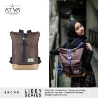 Tas Ransel Mini Backpack Rucksack Wanita Cewek Atva Libby Brown