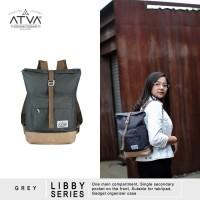 Tas Ransel Mini Backpack Rucksack Wanita Cewek Atva Libby Grey