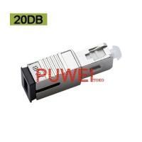 SC/UPC Single Mode Fixed Fiber Optic SC UPC SC Attenuator 20DB FB91