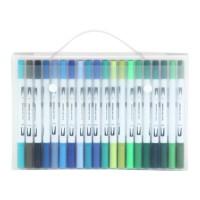 DG 60 Colors Dual Brush Pens Aolvo Watercolor Soft Flexible Tip 0.4