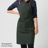 MONOLOG Restyle Apron Drill Celemek Kitchen Barista Unisex Bartender - Hijau
