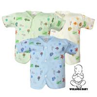 Abby baby baju anak bayi isi 3 pcs lengan pendek kancing depan newborn