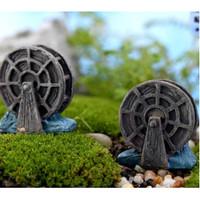Miniatur kincir air bahan dekorasi taman,landscape,terrarium,craft dll