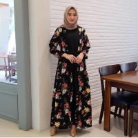AMORA DRESS Baju Hijab Panjang Simple Gaun Kerja Trendy Gamis Muslimah