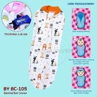 Bedong Bayi Instan Katun BABY LEON Single Knit Motif Random 1pcs BC105