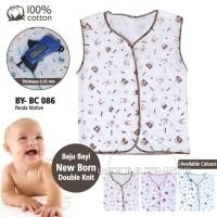 Baju bayi singlet Newborn Katun Tebal Tanpa Lengan Unisex Panda BC-086