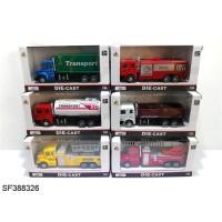 Mainan Anak - Die Cast Car Auto World Mobil Truck Pemadam Transport