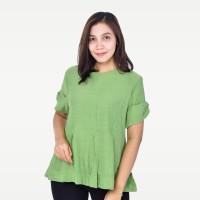 SEYES V7778 Tumblr Blouse Wanita Lengan Pendek Premium Hijau