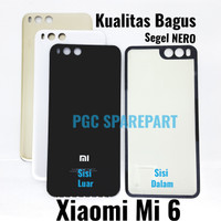Backdoor Xiaomi Mi 6 - Mi6 SEGEL NERO Tutup Casing Belakang Back Case