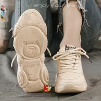 Sepatu Wanita Sneaker Kets Cewek Best Seller Sol Panda 9011 Wedges