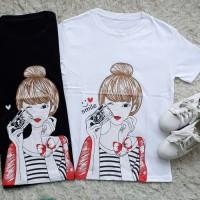MichelleStore T-shirt Kaos Cewe Morning Selfie Girl