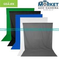 Backdrop/Background Foto Studio Screen 2x3m (Blue,Black,Green,Grey)