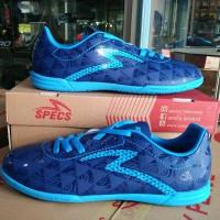 NEW Sepatu futsal specs murah Quark Galaxy blue original