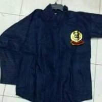 Surjan Lurik Kecil Biru/Baju Surjan Jogja Solo/Baju Adat Jawa