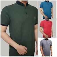 Polo Shirt Kaos Kerah Shanghai Casual Basic Pria Kaos Cowok