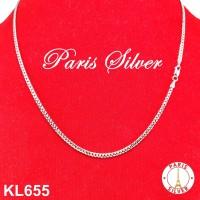 Kalung Rantai Sisik Naga Silver Perak 925 Lapis Emas Putih Pria Wanita