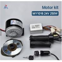 MOTOR listrik 250W 24V Konversi Kit Lengkap sepeda Listrik Gokar ATV