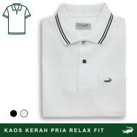 DEFI A - Baju Pria Crocodile Men Polo Shirt - Relax Fit - Bahan Katun