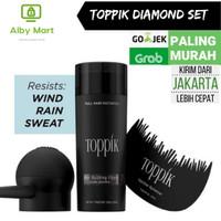 Toppik Hair Fiber penebal rambut Complete Set diamond