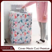 Cover Mesin Cuci Bahan Plastik PEVA KUALITAS PREMIUM Bukaan Atas (A)