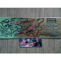 Lis Striping Sticker Mio Sporty Kanji - Gold Hitam