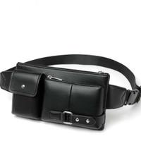 Tas Pria Pinggang Kulit Waist Bag For Men Import Bag B8115