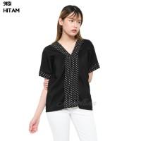 Baju Blouse Atasan Murah Wanita Kekinian 9151 - Hitam, L