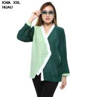 Baju Blouse Atasan XXL Jumbo Murah Wanita Kekinian 10614 - Hijau, XXL