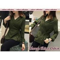Blouse Shine Oshin army [Baju Atasan Wanita 0153] SHV