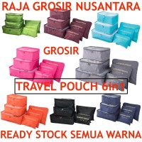 Travel pouch 6in1 travel bag laundry bag pouch bag tas travel
