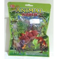 Mainan dinosaurus kecil set - Animal World - AW-002