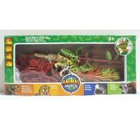 Mainan binatang plastik diorama set - World Animal - AW BOX -01