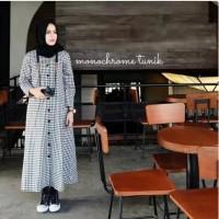 Baju Muslim remaja Long Tunik Hijab Modis Atasan Cewek Hijab MODIS