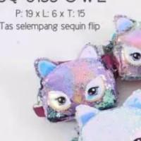 Tas Selempang Sequin Flip Bisa Berubah Warna Owl 8133