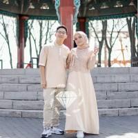 cp Muslim cewek cowok busana dres baju atasan koko blus couple
